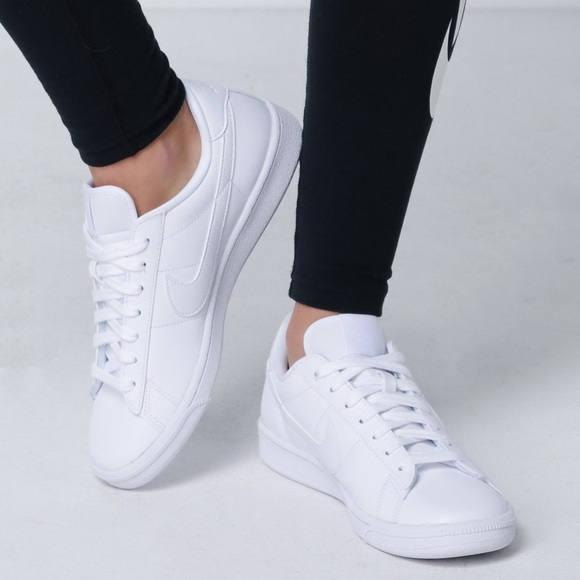 women's nike white leather sneakers